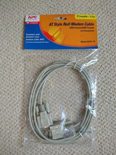 10ft Null Modem DB 9 Female//Female Molded Cable