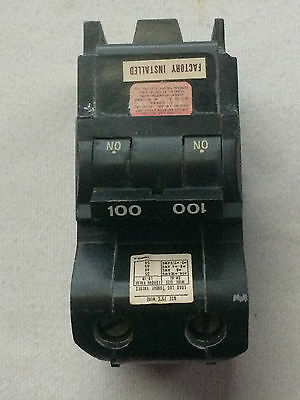 FEDERAL PACIFIC //AMERICAN Bolt On  NB2100 100 AMP 2 POLE TYPE NB CIRCUIT BREAKER