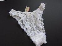 Victoria's Secret Vintage 90s High Cut Tanga Rio Lace Panties Medium