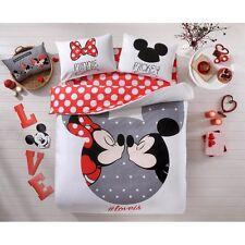 TAC LINENS SET - Disney Mickey&Minnie Loveis Double Duvet Cover Set 100% Cotton