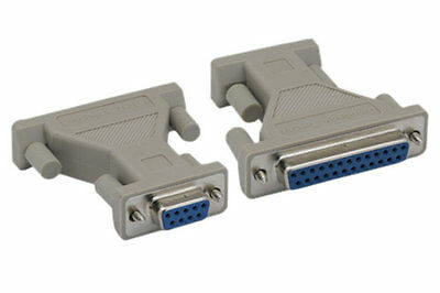 DB9//DB25 Serial RS232 Female Loopback Tester Adapter CablesOnline TS-LB02