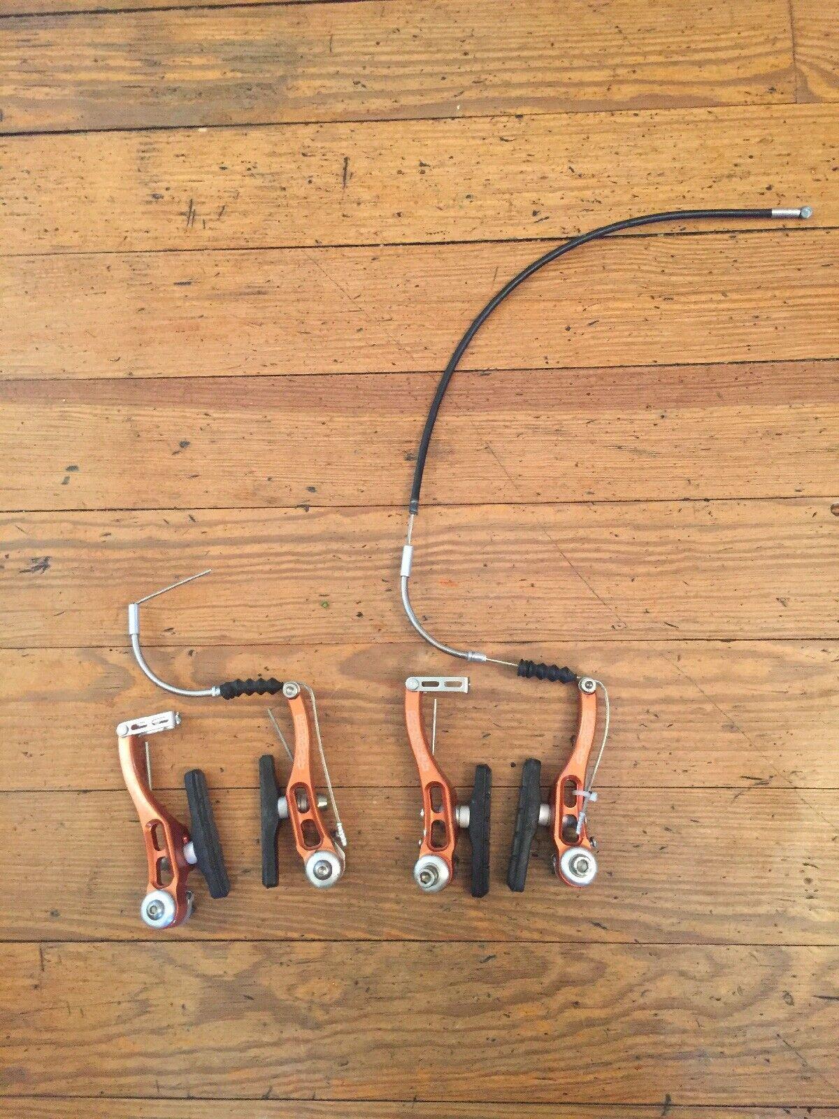 Proshift Freni a V Vintage CNC Mountain Bike Bordo Freni Anodizzato Rosso USA