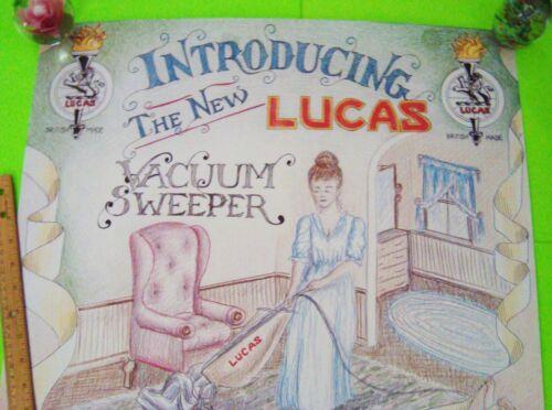 LUCAS VACUUM SWEEPER Satirical British Car Parts IF IT/'S LUCAS YOU KNOW IT SUCKS
