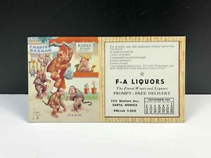 Vintage-LAWSON-WOOD-It-039-s-In-The-Bag-Marketing-Postcard