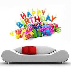 Details About Hy Birthday Vinyl Wall Sticker Poster Home Decor Decal Mural Art Wallpaper