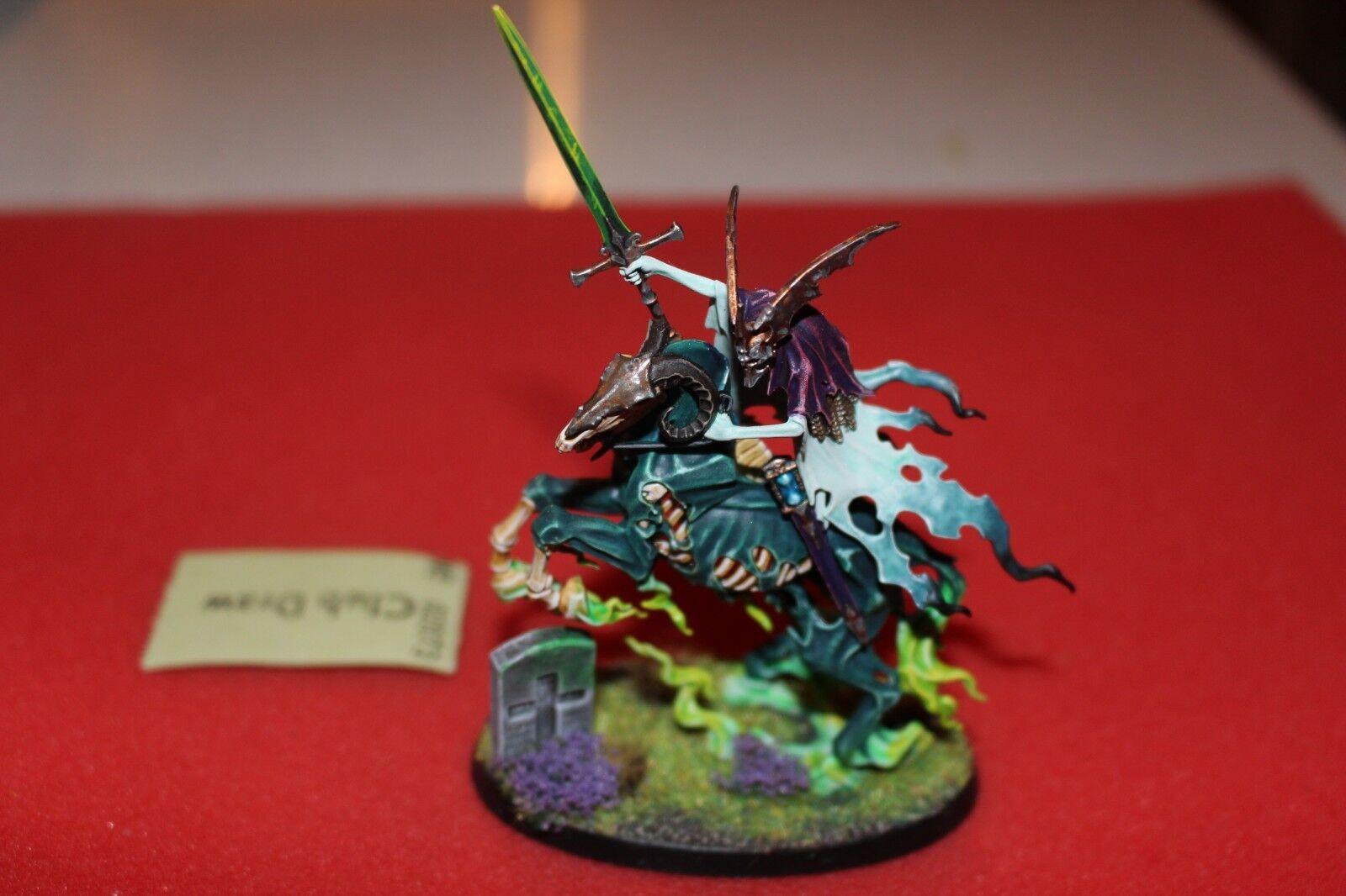 Spel arbetarhop Warhammer Nightspök Knight of Shrouds on Ethereal Steed Målad