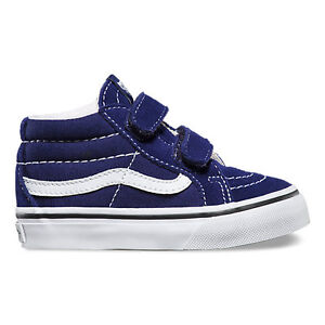 a36c3ad284 Vans SK8-Mid Reissue V Patriot Blue   True White Toddlers Shoes New ...