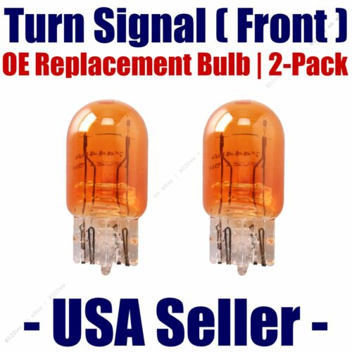 Front Turn Signal//Blinker Light Bulb 2pk-Fits Listed Chevrolet Vehicles 7444NA