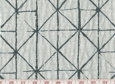 """Obli Circles Charcoal Reversible Heavy Woven upholstery Fabric 62/"""" by the yard"""
