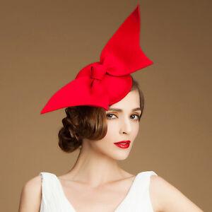 """A194 """"Angel Wings"""" Ladies Felt Wool Fascinator Cocktail Formal Race Wedding Hat"""