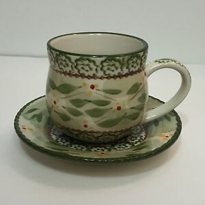 Temp-tations-Old-World-Green-12-oz-Coffee-Cup-amp-Saucer-A21