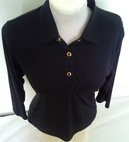 Golf Sale-black With Gold-green Lamb 3/4 Sleeved Golf Shirt(10)-great Gift Idea
