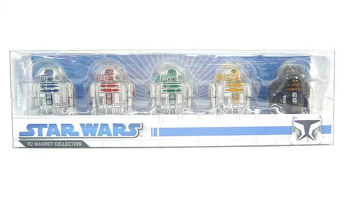 Star wars ensky r2d2 satz 5 r2 magnet - sammlung