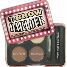 W7 Brow Parlour  Eyebrow Grooming Kit Wax Highlighter Brush Tweezers Mirror
