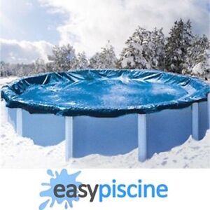 B che hiver ronde d 6 20 m pour piscine d 5 40 m hors sol - Bache hivernage piscine hors sol ronde ...
