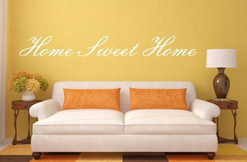 Home sweet home wall autocollant vinyle Citation Sticker Art salon salle à manger entrée