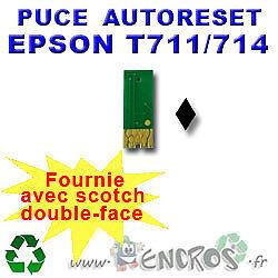 RECHARGEABLE-Puce-Auto-Reset-EPSON-T0711-noire