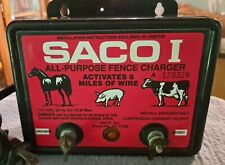 Used Saco Fencer Fence Charger Activates 6 Miles Made In Usa