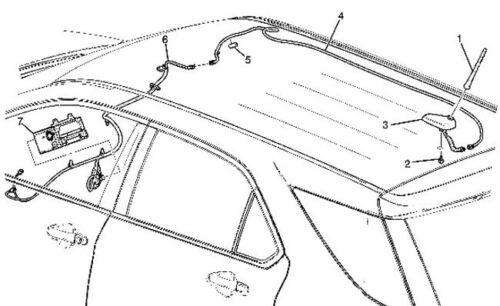 2008-15 Impala HHR Genuine Digital Radio Antenna GPS Navigation Mobil Telephone