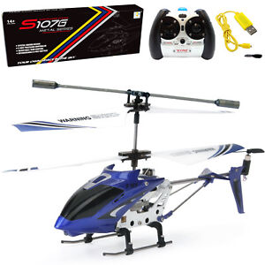 Syma-S107-S107G-3-5CH-Alloy-Mini-Remote-Control-RC-Helicopter-Gyro-Blue