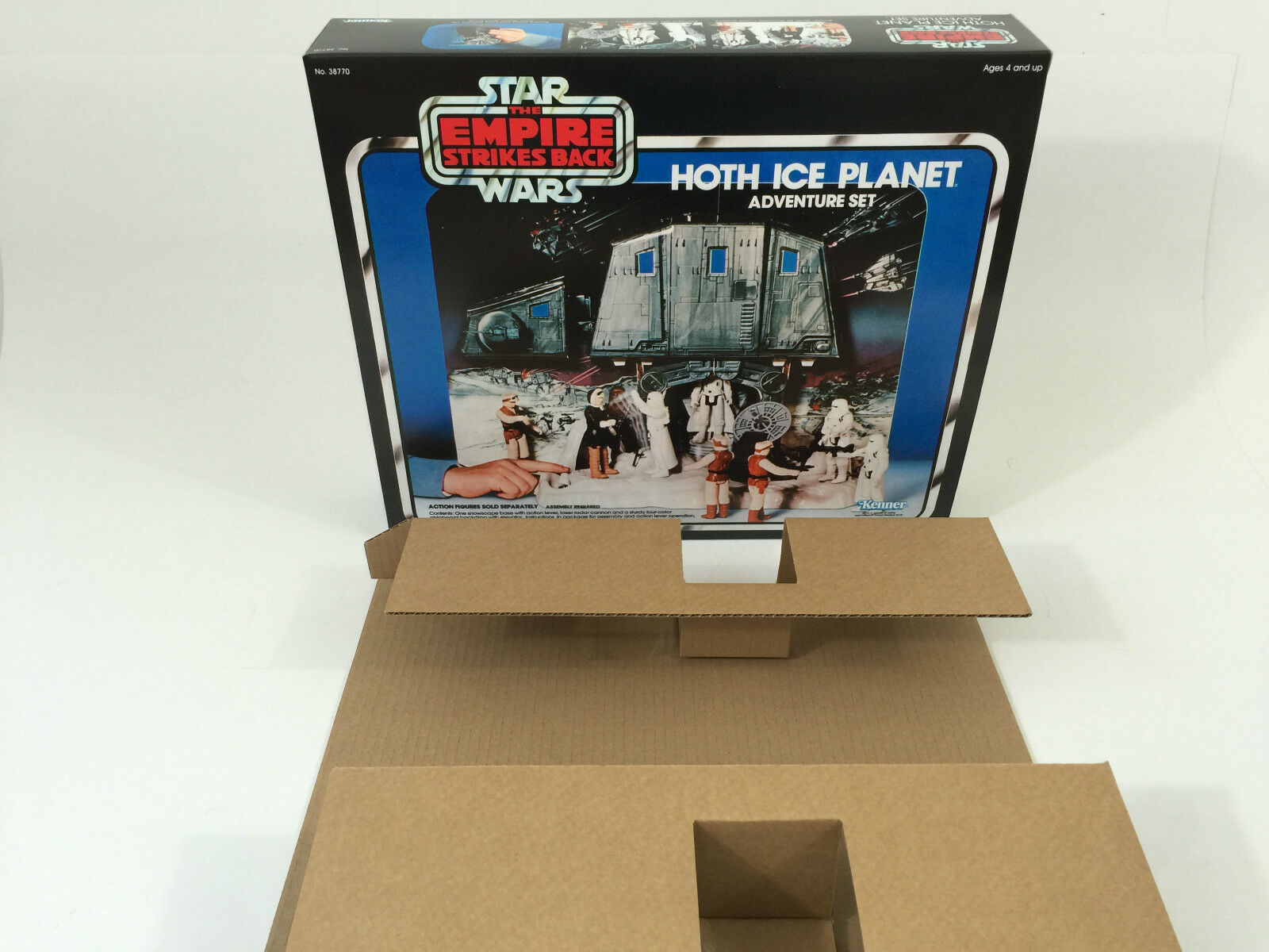 Replacement vintage star wars esb hoth ice planet box + inserts