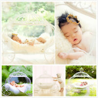 Creative Photography Prop Iron Pumpkin Carriage Baby Wheel Basket Bed D-61