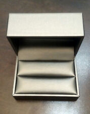 Silver Double Ring Box Engagement Wedding Trio Sets NEW