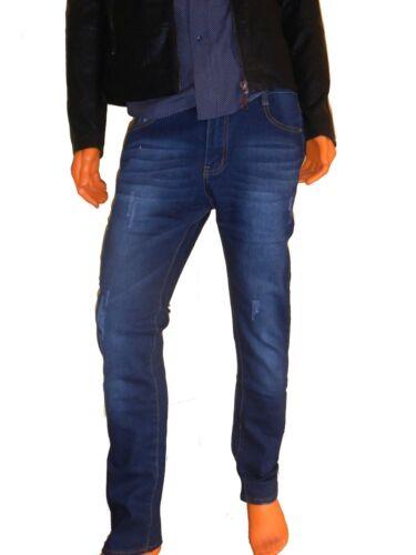 Jeans Pantalone uomo cotone elastano blu denim A956