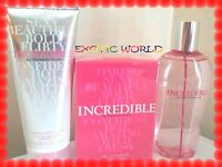 Victoria's Secret Incredible Eau De Perfume, Body Mist & Lotion Set (3 Pieces)