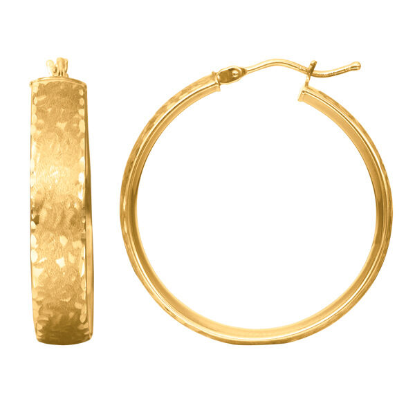 gold Puro Hoop Earrings 14K Yellow gold ITALY 2.7g