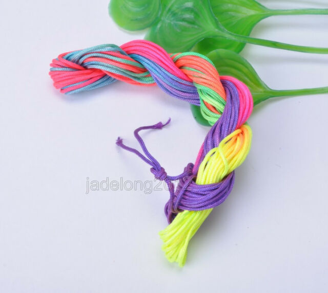 1pcs Nylon Cord 12meter Thread Chinese Knot Macrame Rattail Bracelet Cord 1.5mm