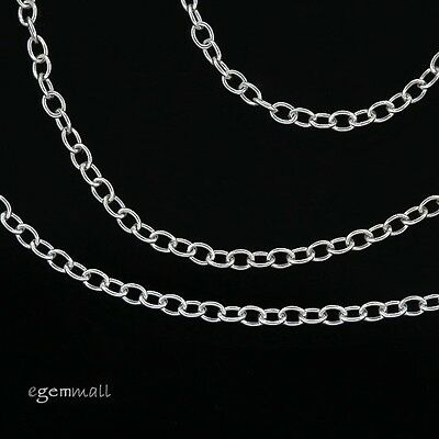 "12"" / 18"" Sterling Silver Bulk Footage Chain 1.25mm Oval Cable #97774"