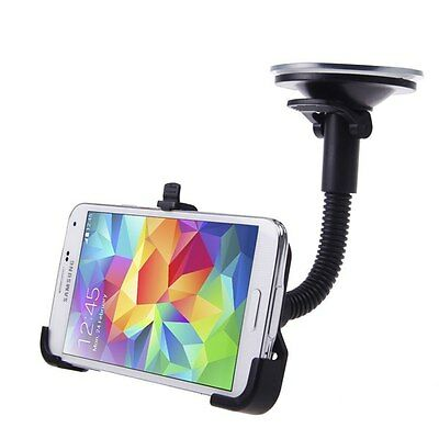 360 Rotating Car Windshield Holder Mount Cradle Stand For Samsung Galaxy S5 G900