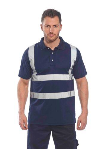 Portwest Iona Polo Riflettente Traspirante Sicurezza Buttafuori Work Wear F477