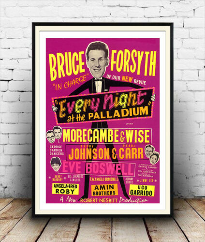 Old London Palladium poster reproduction Bruce Forsyth