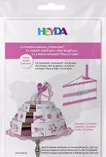 3x Schablone Vorlage Bastelschablone Tortenstück Schachtel für DIN A4 Torte