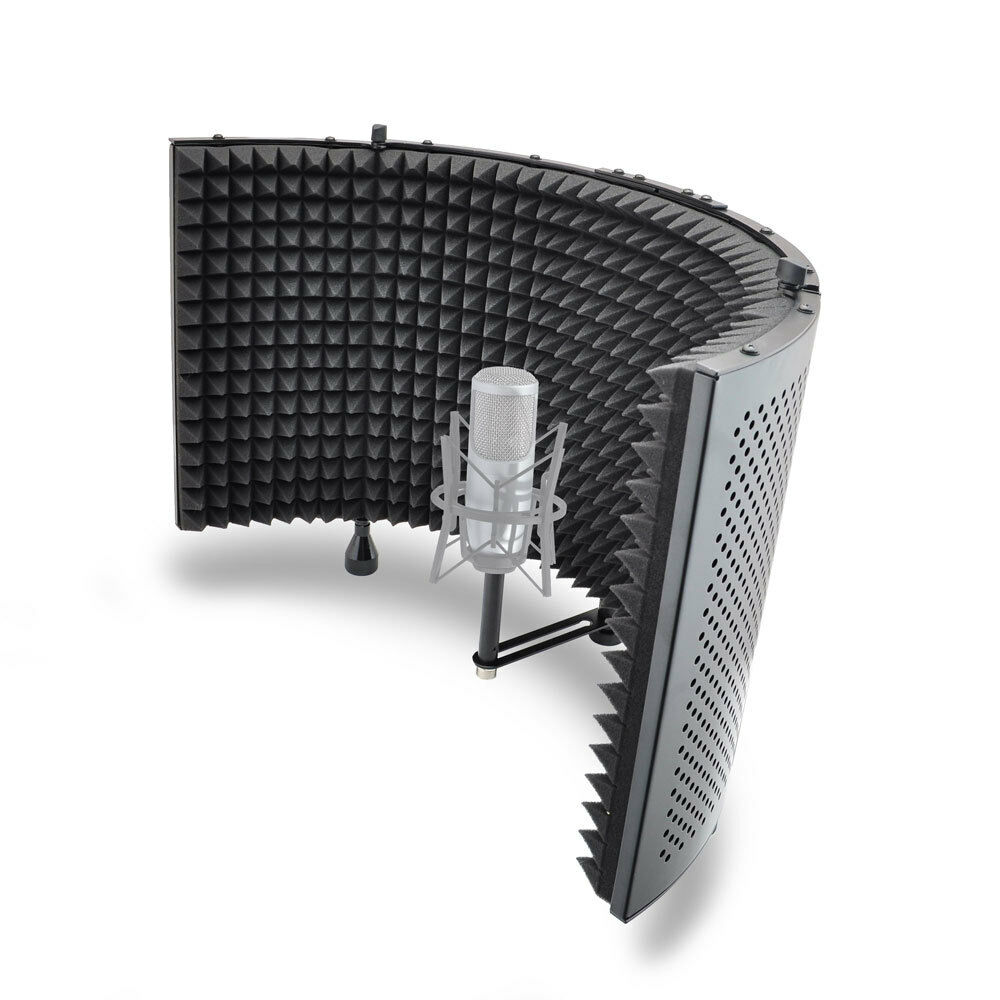 NEW Pyle PSMRS11 Studio Microphone Isolation Shield with Sound Dampening Foam