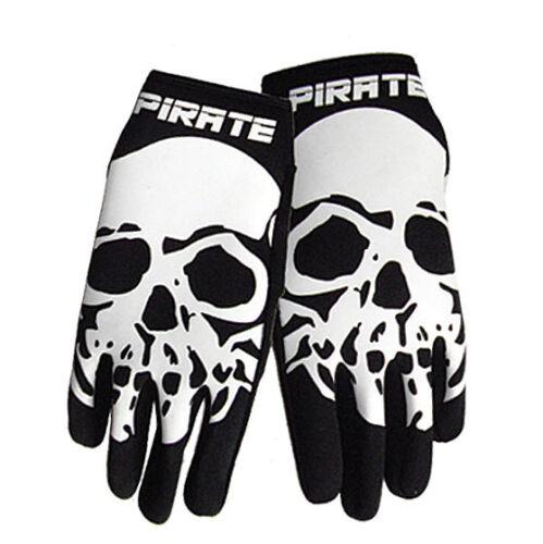 Totenkopf Skull Pirate Handschuhe lang NEO schwarz Pirat