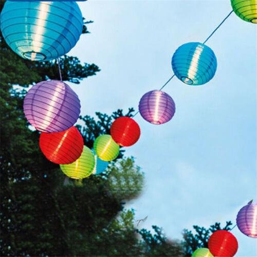 Multi Lanterna Energia Solare Impermeabile Fairy Stringa LED Luce da Esterni Giardino Recinto