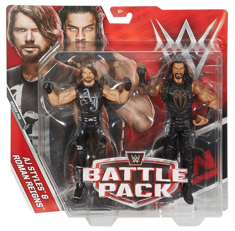 Mattel WWE Battle Packs Series 45 AJ Styles & Roman Reigns Action Figures