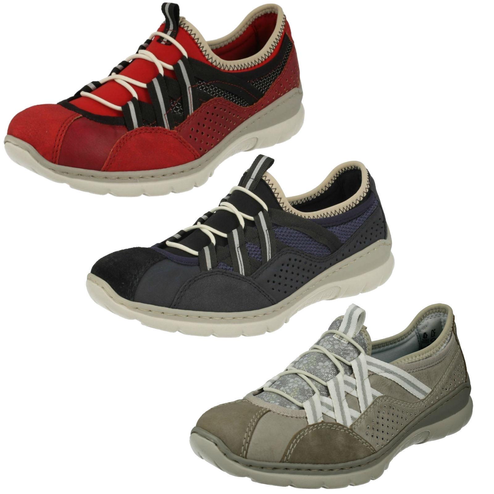 Rieker Damen Freizeitschuhe L3256 Günstige und gute Schuhe