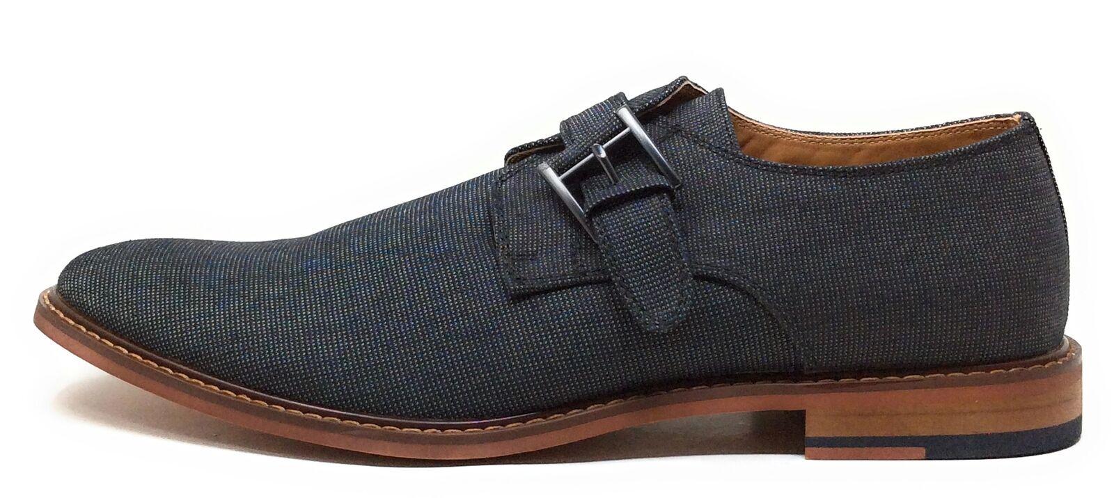 J75 By Jump Mens Parlay BLK C Monk Strap Oxford Dress Shoes Black Size 11 M