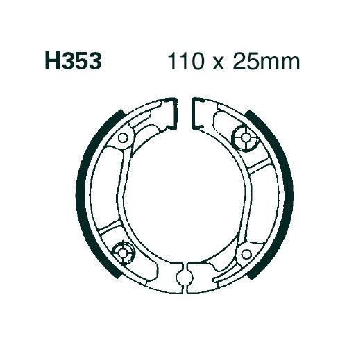 EBC BRAKES plaquette de frein Mâchoires de frein avec ressort h353