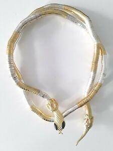 NICHT-MARKE-flexible-Multi-Color-Schlangen-Halskette-Abmessungen-ca-90-cm
