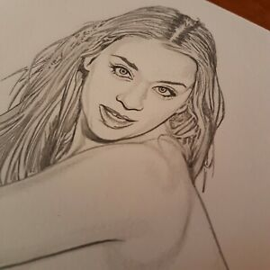 Melissa-Debling-on-Fabriano-200gr-new-original-sketch-Limited-sexy-one