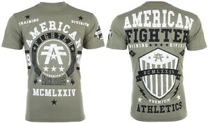 AMERICAN FIGHTER Mens T-Shirt DALTON Athletic MILITARY GREEN Biker Gym UFC $40