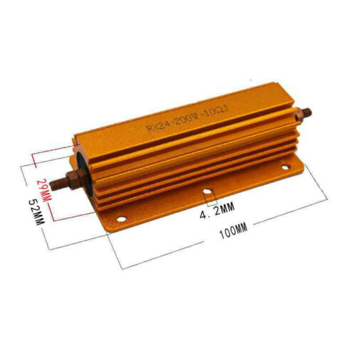 8R 200W Power Aluminum Metal Resistor 4 Tubes Amp Test Dummy Load Replacement