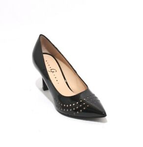 Gibellieri-78-Black-Patent-Leather-Pointy-Toe-Classic-Heel-Pumps-39-5-US-9-5