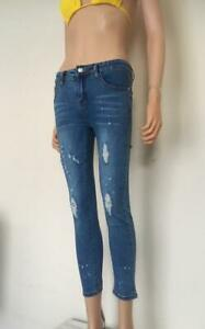 (19) Womans Blue Cropped Jeans - Various Styles - Skinny Size 8 - 14