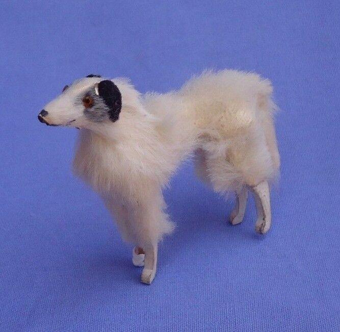 Antiguo Piel Borzoi Salon Perro moda muñeca Kestner Bru francés compañero de Alemania